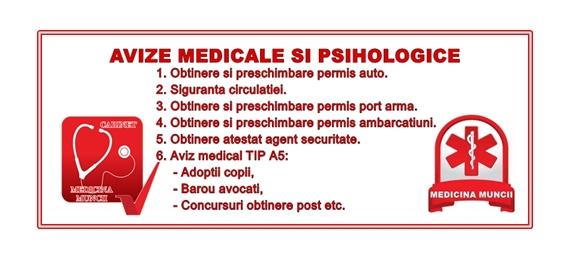 Avize medicale si psihologice