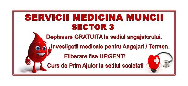 Servicii Medicina Muncii Sector 3
